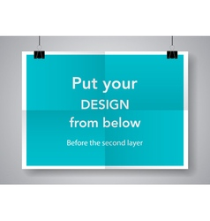 Twice a folded poster vector