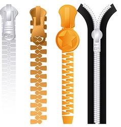 Zipper design vector image