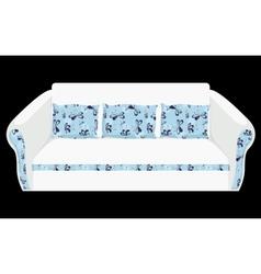 white sofa vector image