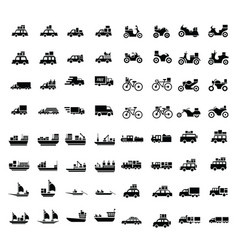 Logistics and transport icons 64 item vector