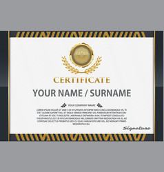 certificate template with luxury patterndiploma vector image