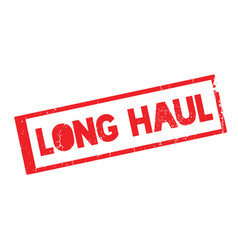 Long haul rubber stamp vector