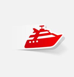 realistic design element yacht vector image