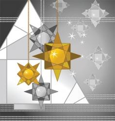 Geometric christmas vector