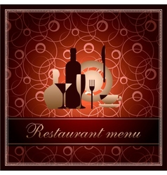 luxury template for f restaurant menu vector image