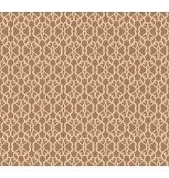 Beige forged seamless pattern on brown background vector