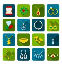 Jewelry icon set vector