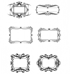 6 frame vector image vector image