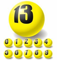 numeric balls vector image