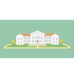 University or college building Campus graduation vector image