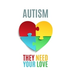 Autism awareness poster or brochure template vector image