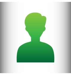 User avatar green gradient icon vector