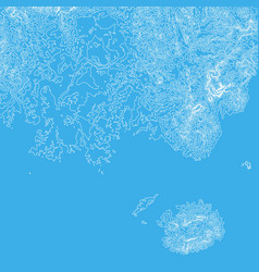 abstract earth relief blue map vector image