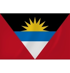 Antigua and barbuda waving flag vector