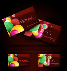 artistic business card vector image