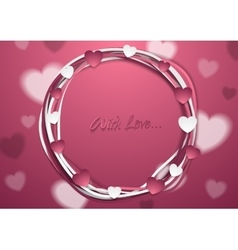 Bright abstract st valentines day background vector