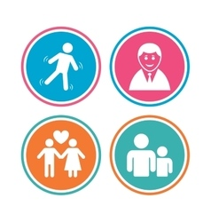 Businessman person icon Group of people symbol vector image