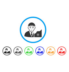Cardano trader rounded icon vector