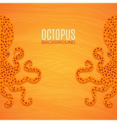 Colorful background with octopuses vector image vector image