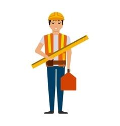 Construction worker cartoon icon vector