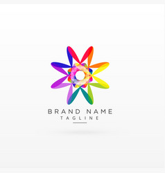 Creative abstract vibrant logo design vector