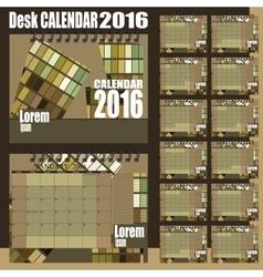 Desk calendar 2016 vector