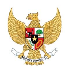 Garuda indonesia indonesia national emblem vector