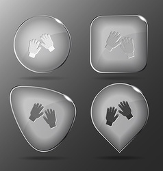Gauntlets Glass buttons vector image