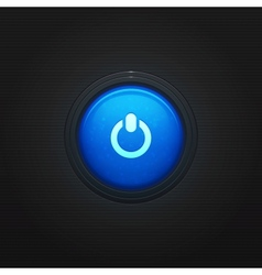 Glossy round On Off button vector image vector image