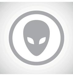 Grey alien sign icon vector