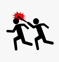 Icon robbery pictogram violence flat style one vector