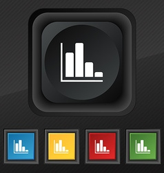 Infographic icon symbol set of five colorful vector
