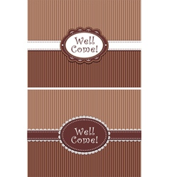 invitation in chocolate colors vector image