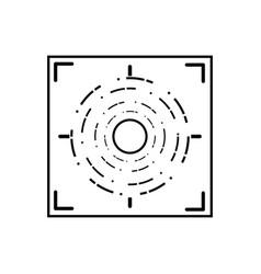 Line gun sight circle with shooting focus vector