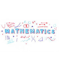 mathematics word vector image vector image