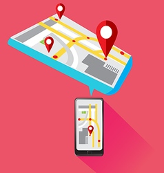 Mobile gps technology smartphone vector
