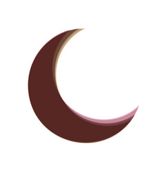 Moon sign colorful icon vector