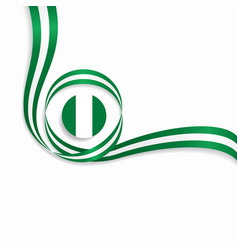 Nigerian wavy flag background vector