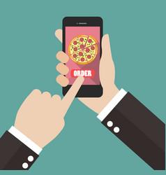 order pizza online vector image