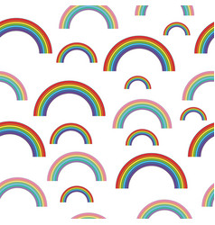 Pastel rainbows - oldschool seamless pattern vector