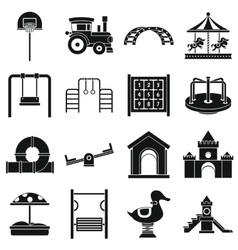 Playground icons set simple style vector