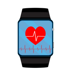Pulsometer smart watch vector