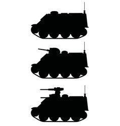 Small armored tracked vehicles vector