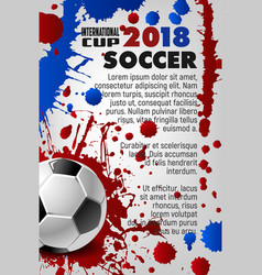 Soccer cup 2018 sport game football poster vector