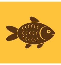 The fish icon Fish symbol Flat vector image vector image