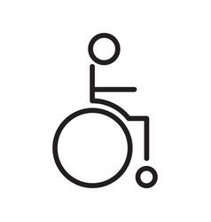 Thin line wheelchair icon vector
