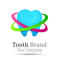 tooth dental logo design Template for your vector image vector image