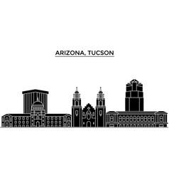 usa arizona tucson architecture city vector image