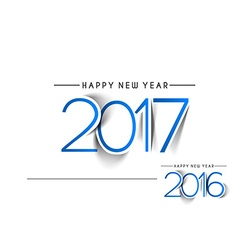 Happy new year 2017 2016 Text Design vector image