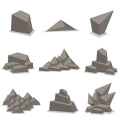 Gray stone set art vector